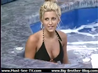 Jessica in the hot tub!
